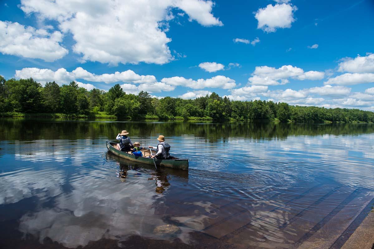 st croix river canoers
