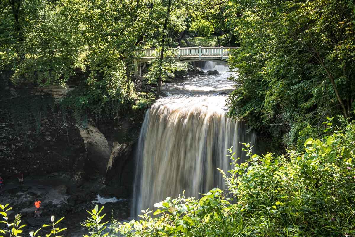 minneopa state park waterfall 2