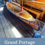 Grand Portage Natl Monument canoe