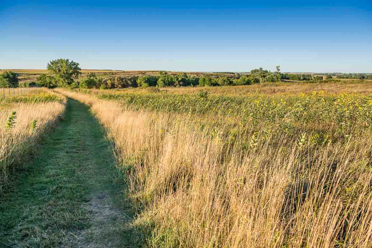 minnesota blue mounds state park prairie path