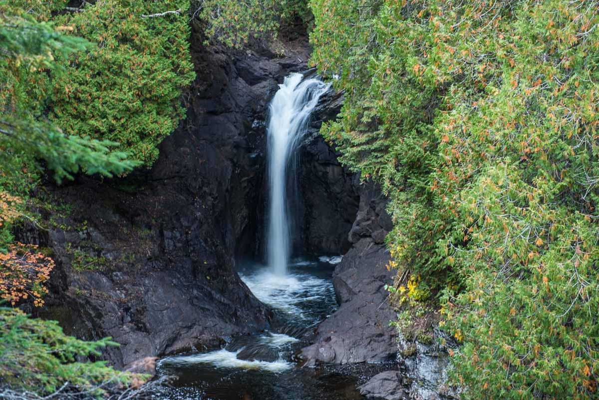 minnesota cascade state park waterfall