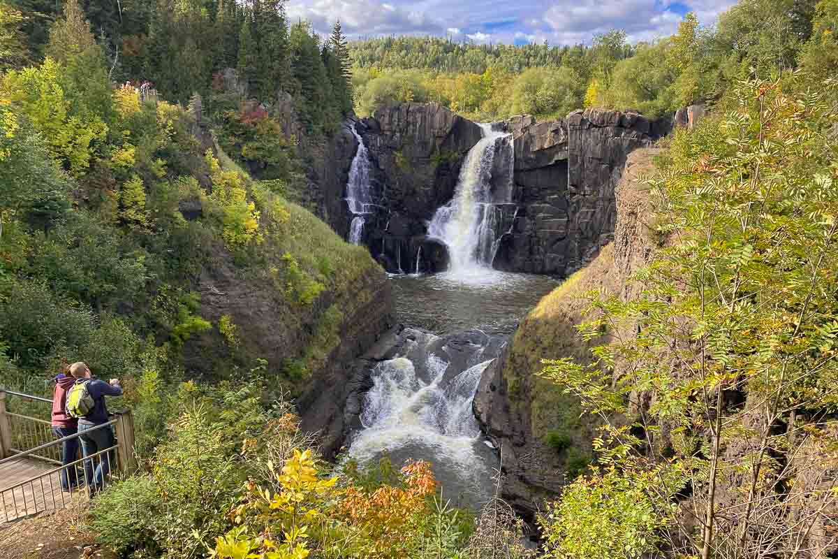 minnesota grand portage state park high falls