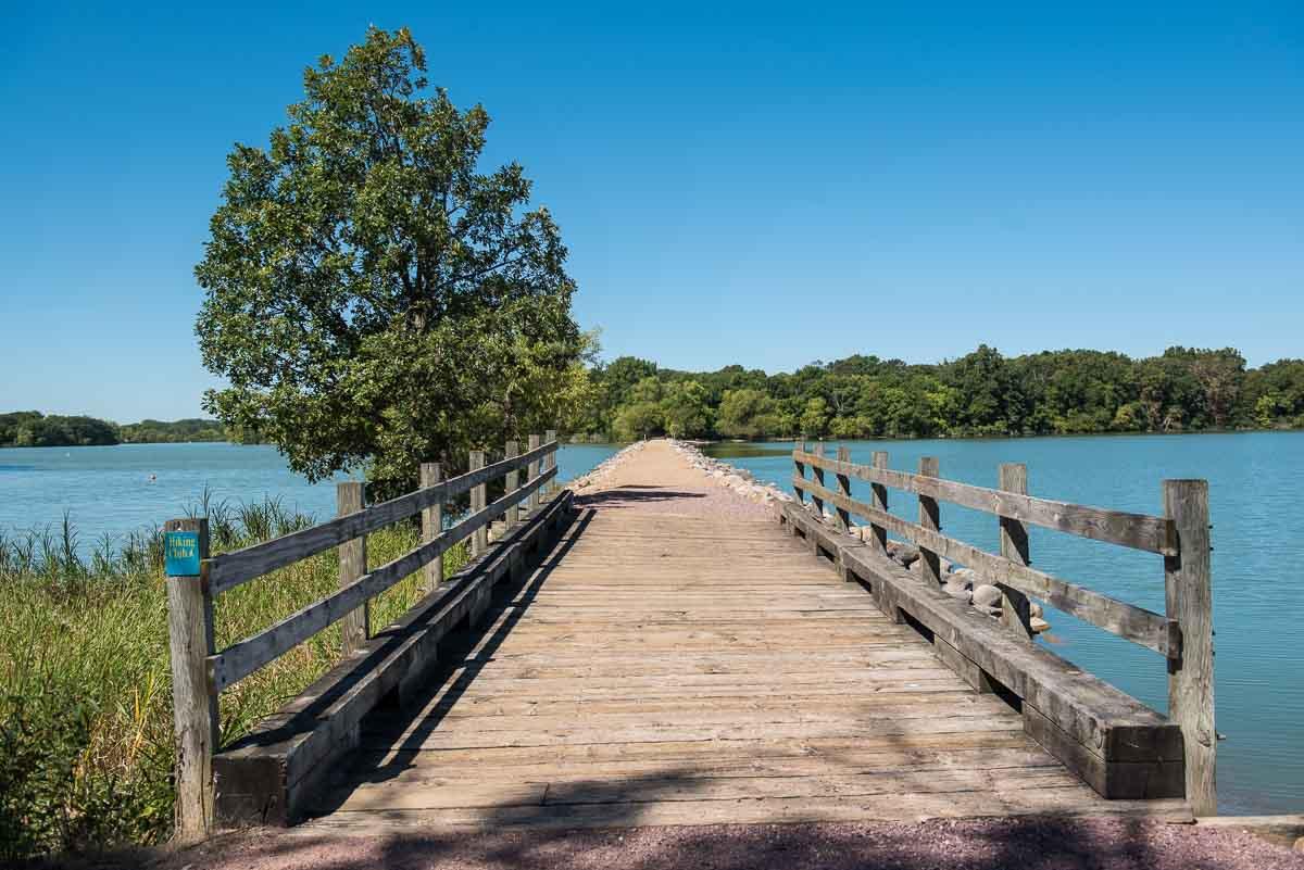 minnesota lake shetek state park causeway loon island