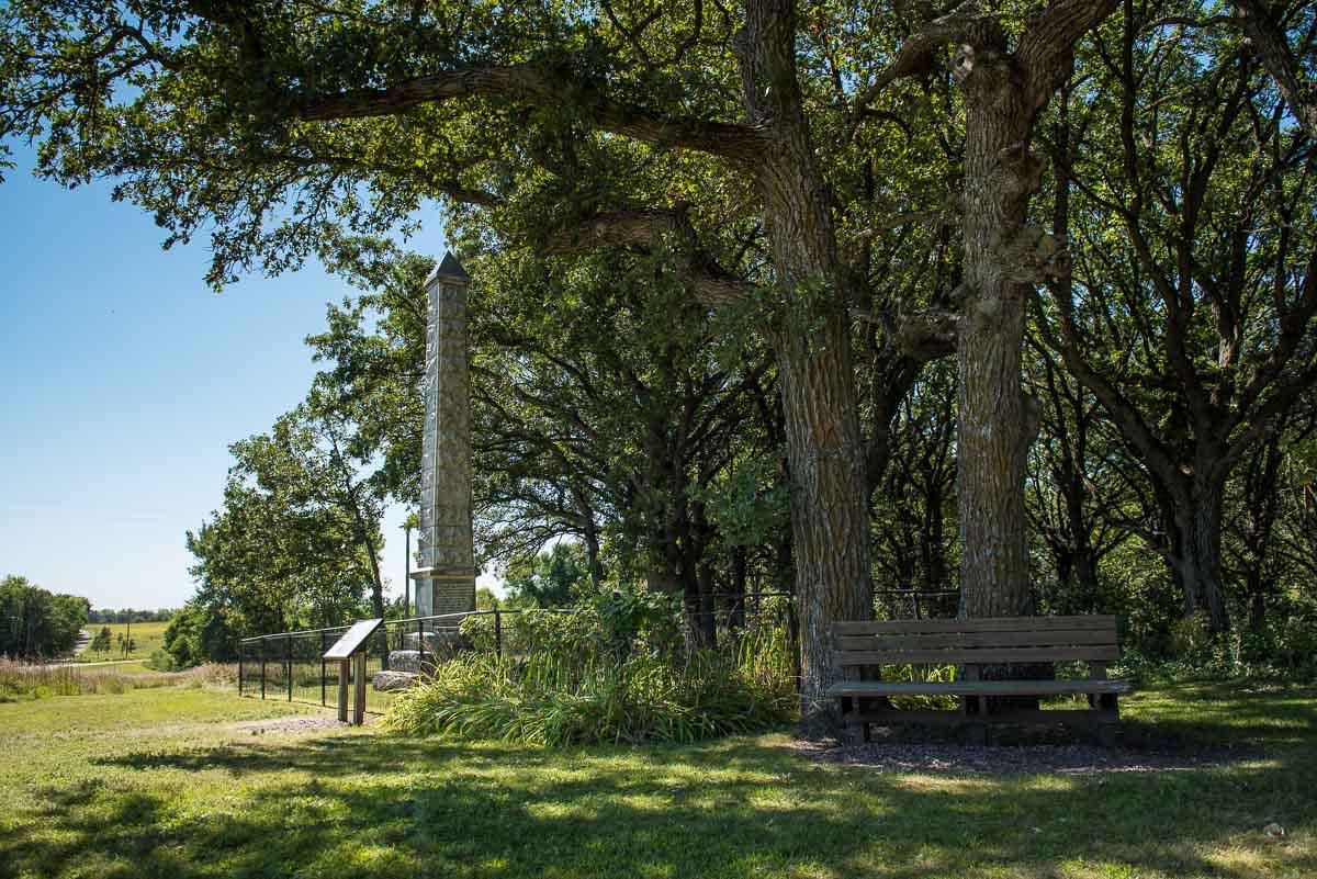 minnesota lake shetek state park monument 2