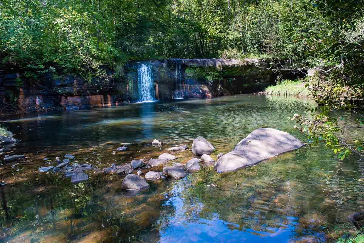 minnesota banning state park waterfall